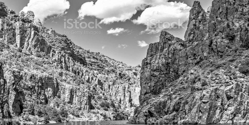 Perfect Rock Mountains in the Midwest stock photo