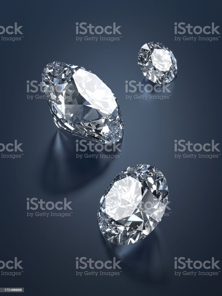Perfect Round Cut Diamonds XL+ royalty-free stock photo