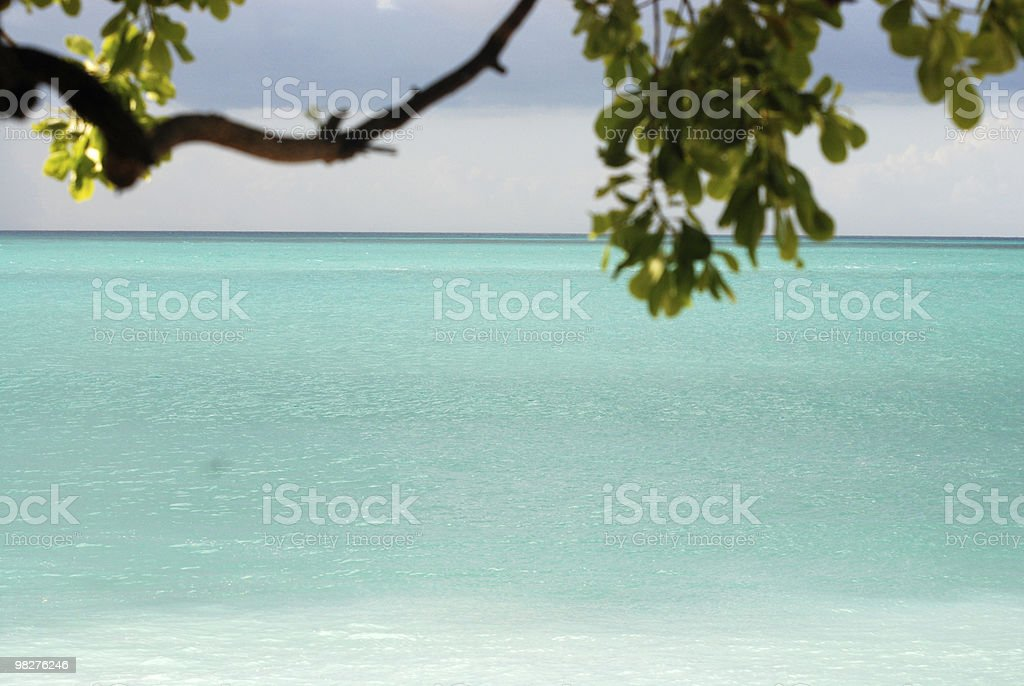 Perfect sandbank and a spectacular view royalty-free stock photo