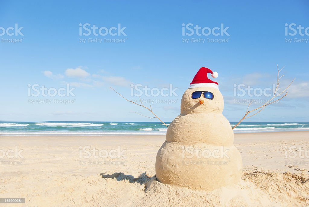 Perfect Sandman With Carrot Nose And Sunnies stock photo