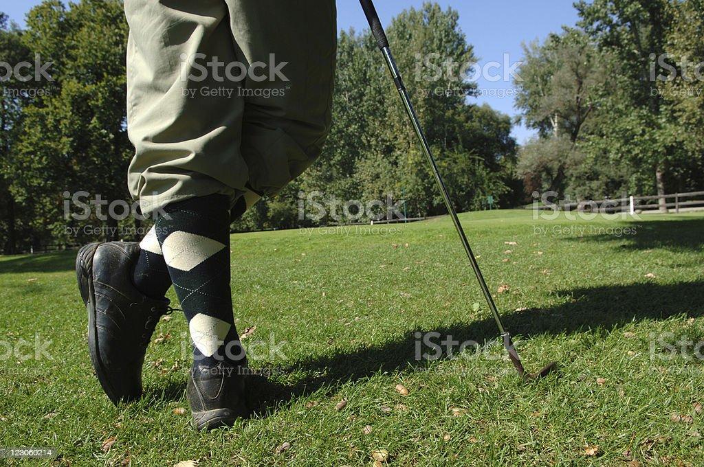 Perfect scotish golfer royalty-free stock photo