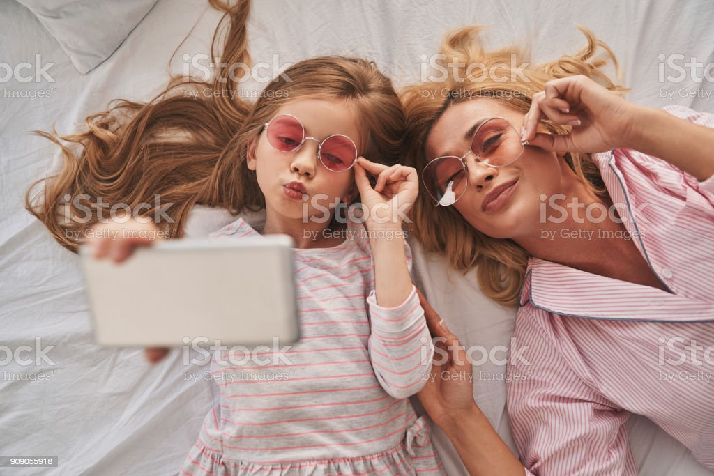Perfect selfie. stock photo