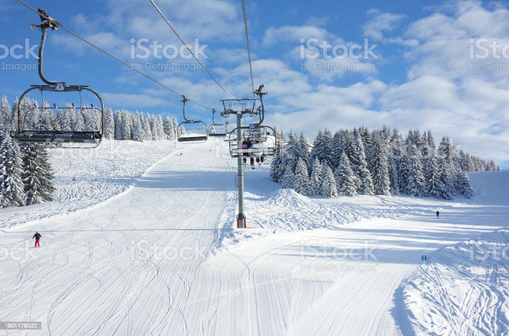 Pistes de ski parfait - Photo