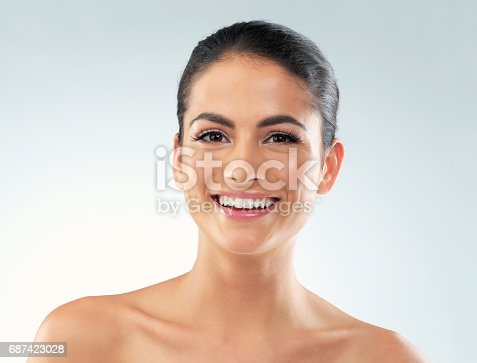 istock Perfect skin paired with a perfect smile 687423028