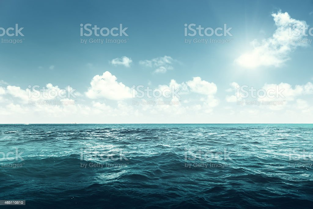 perfect sky and ocean stock photo