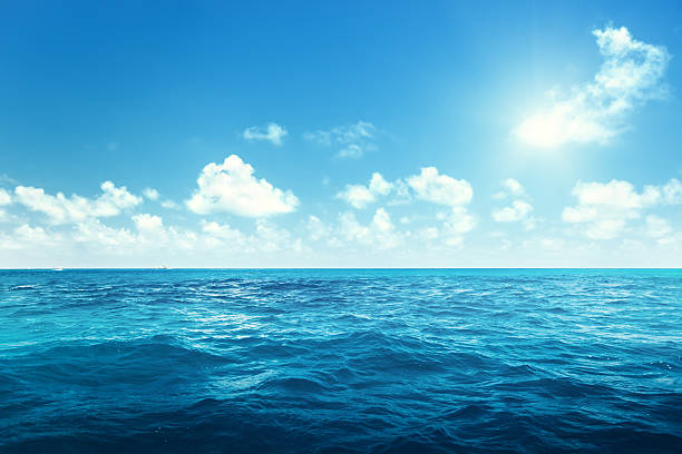 perfect sky and ocean perfect sky and ocean ocean stock pictures, royalty-free photos & images