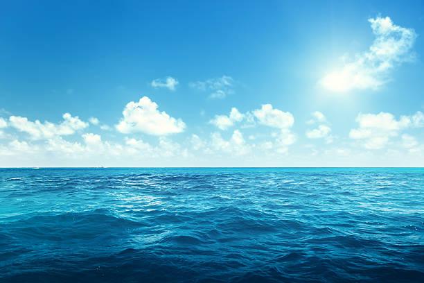 perfect sky and ocean - vattenlandskap bildbanksfoton och bilder