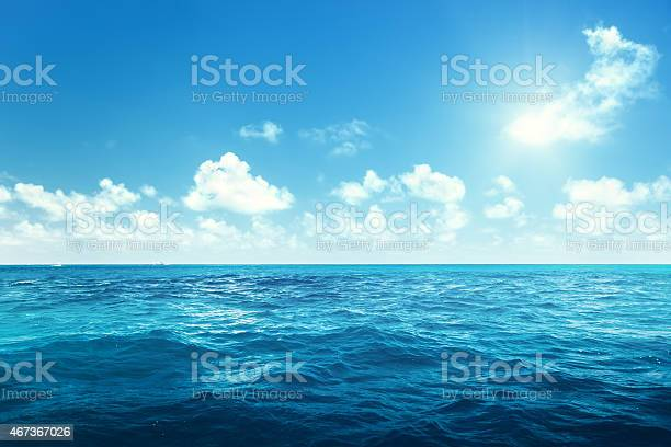 Photo of perfect sky and ocean