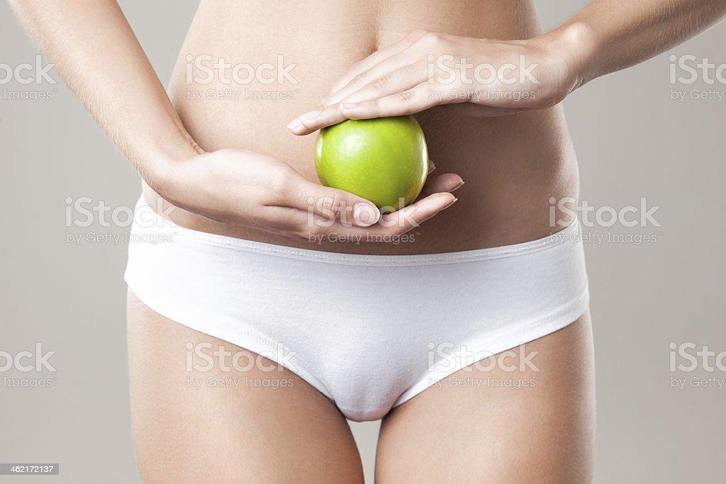 Cuerpo de mujer delgada perfecta. Concepto de dieta - Foto de stock de Abdomen libre de derechos