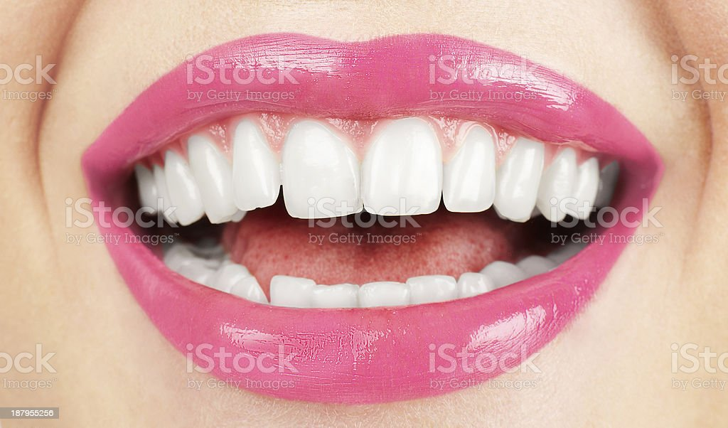 Perfect smile . Healthy tooth. stock photo