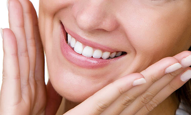 perfect smile - straight stock photos and pictures