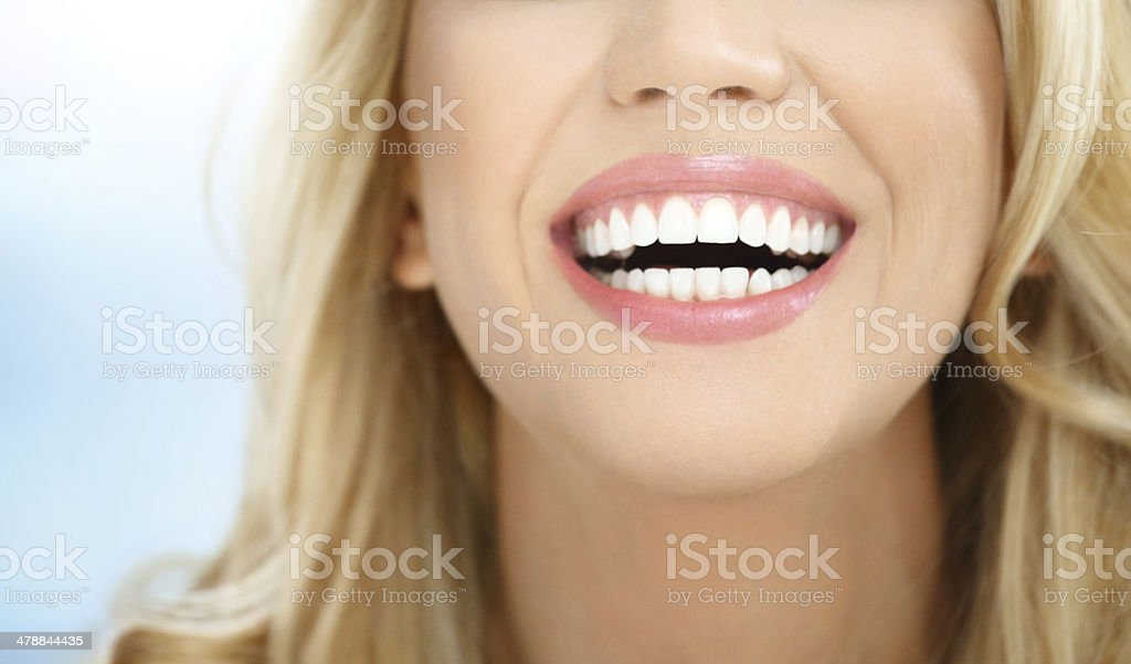 Perfect smile. stock photo
