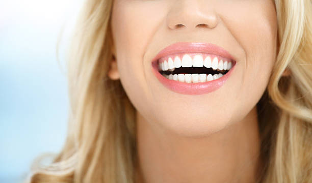 perfect smile. - teeth stock photos and pictures