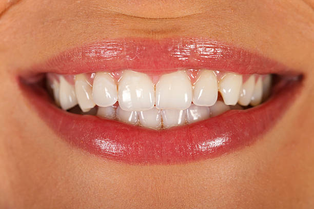perfect smile - enamel stock photos and pictures