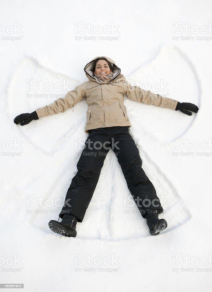 Perfect Snow Angel (XXXL) stock photo