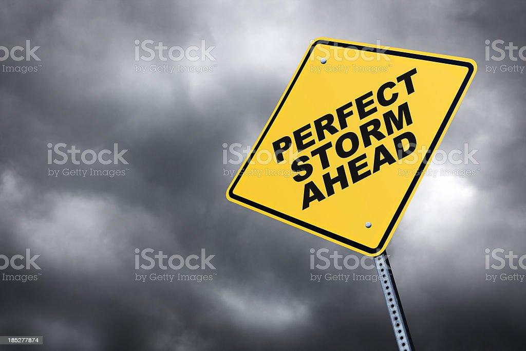 Perfect Storm Ahead stock photo