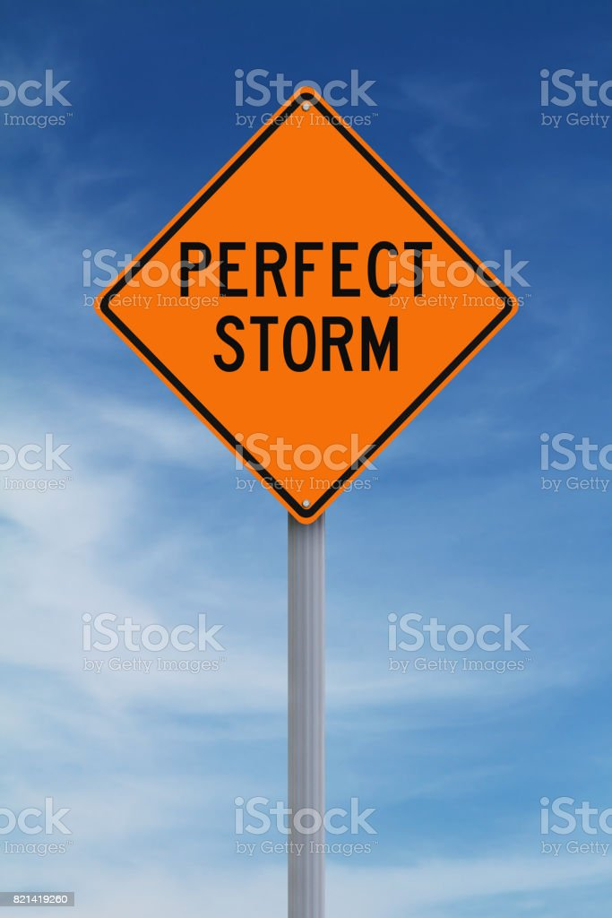 Perfect Storm stock photo