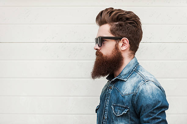 perfect style. - beard stock pictures, royalty-free photos & images