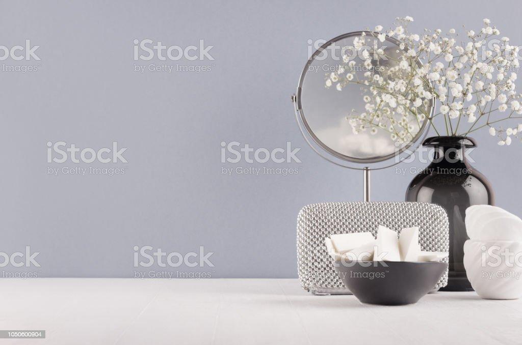Perfekte Dekoration Für Zuhause In Grauen Farben Schwarz ...