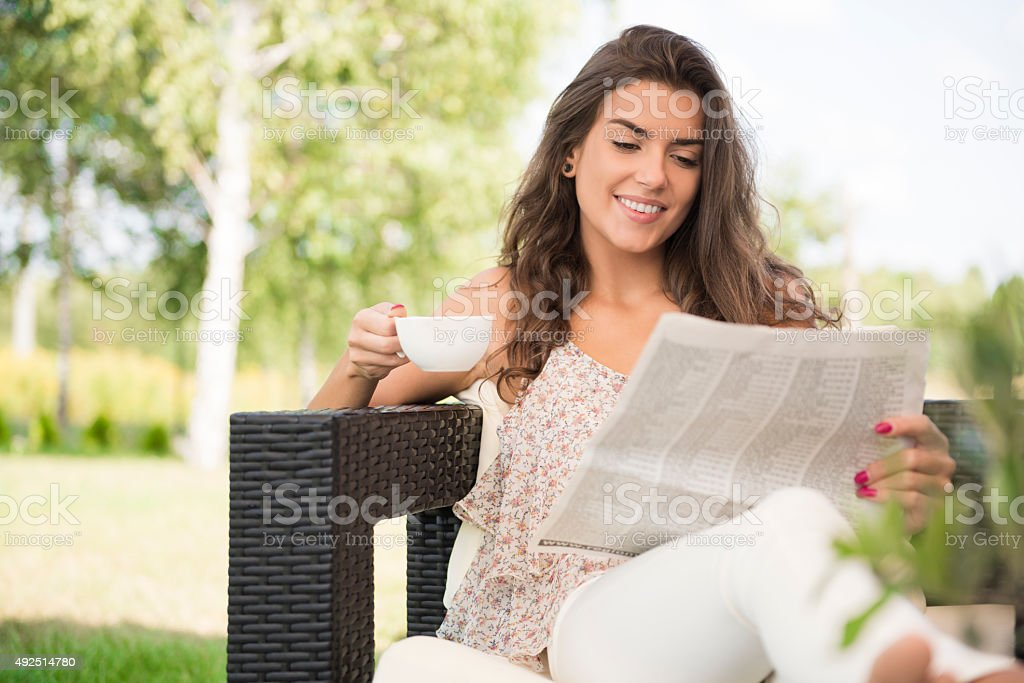 Perfect summer day for relaxing stock photo