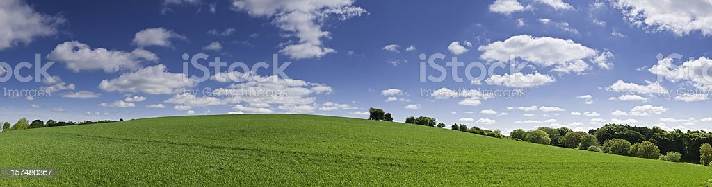 Perfect summer landscape vibrant background panorama stock photo