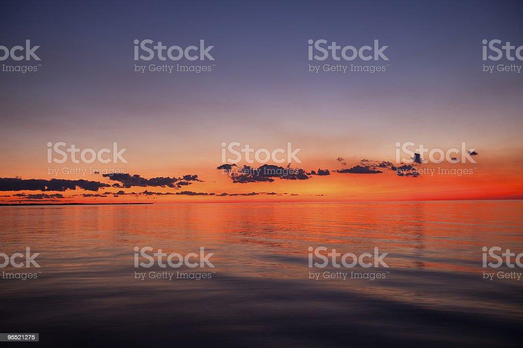 Perfekte Sonnenuntergang – Foto