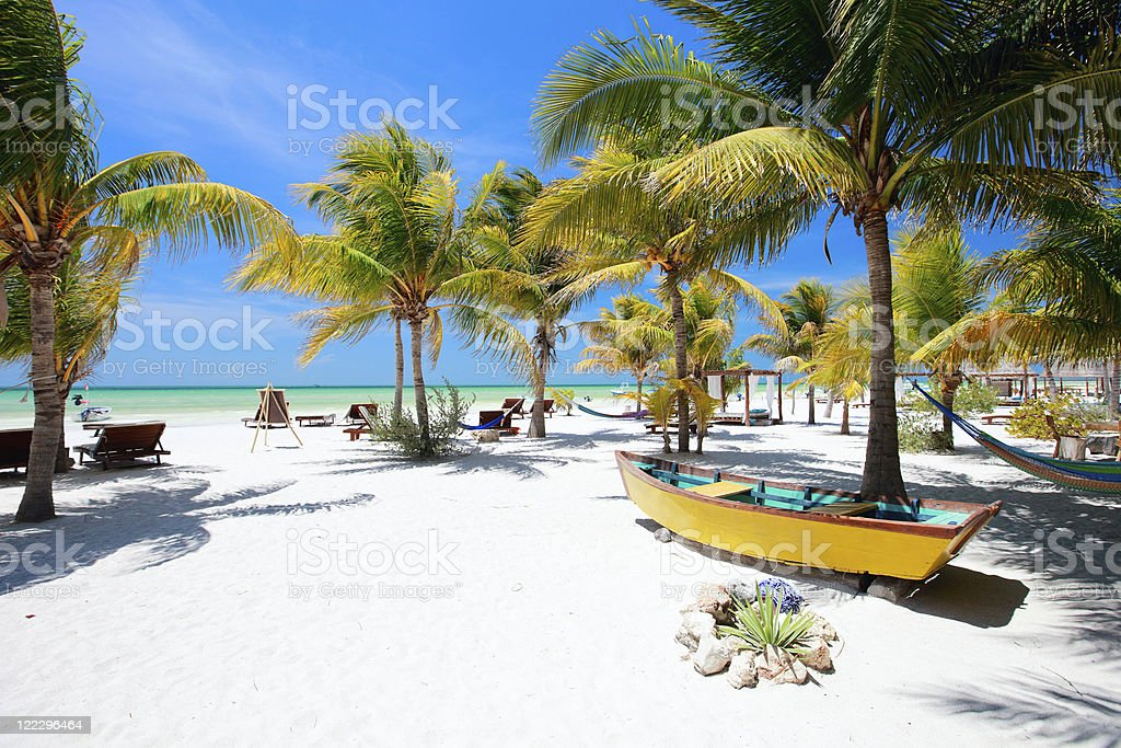Perfect tropical beach stock photo