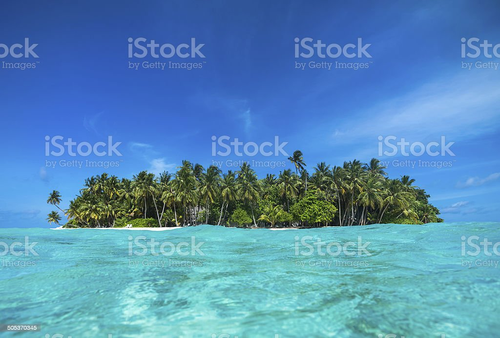 Perfect tropical island paradise beach stock photo
