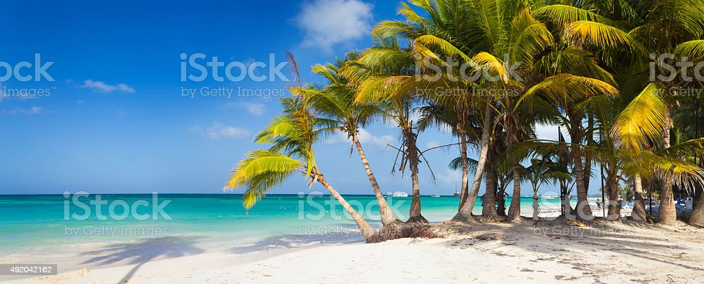 Perfect tropical paradise beach stock photo