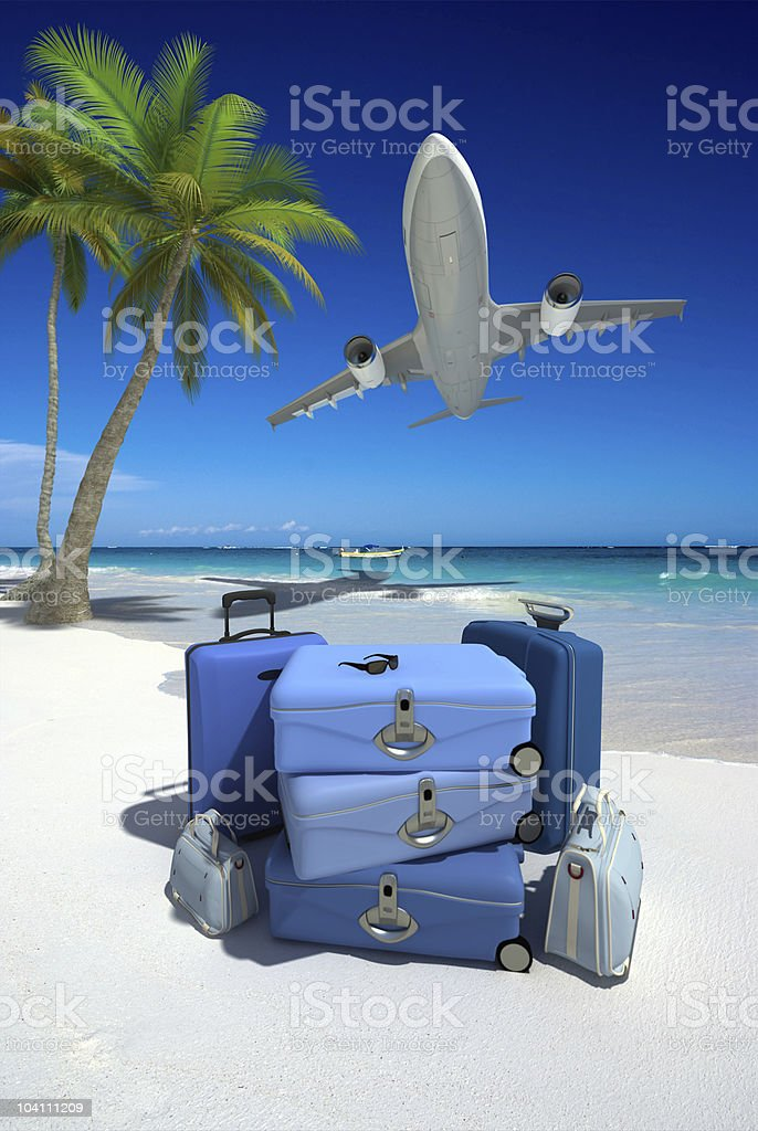 Perfect tropical vacation royalty-free stock photo