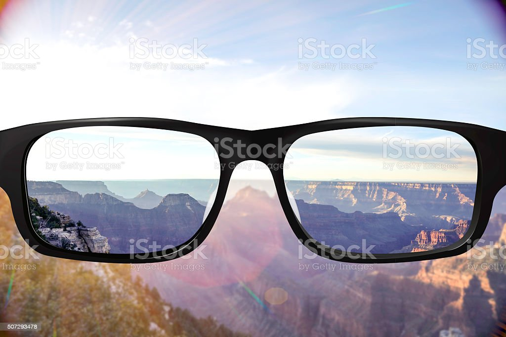 Perfect vision South Rim Grand Canyon stock photo