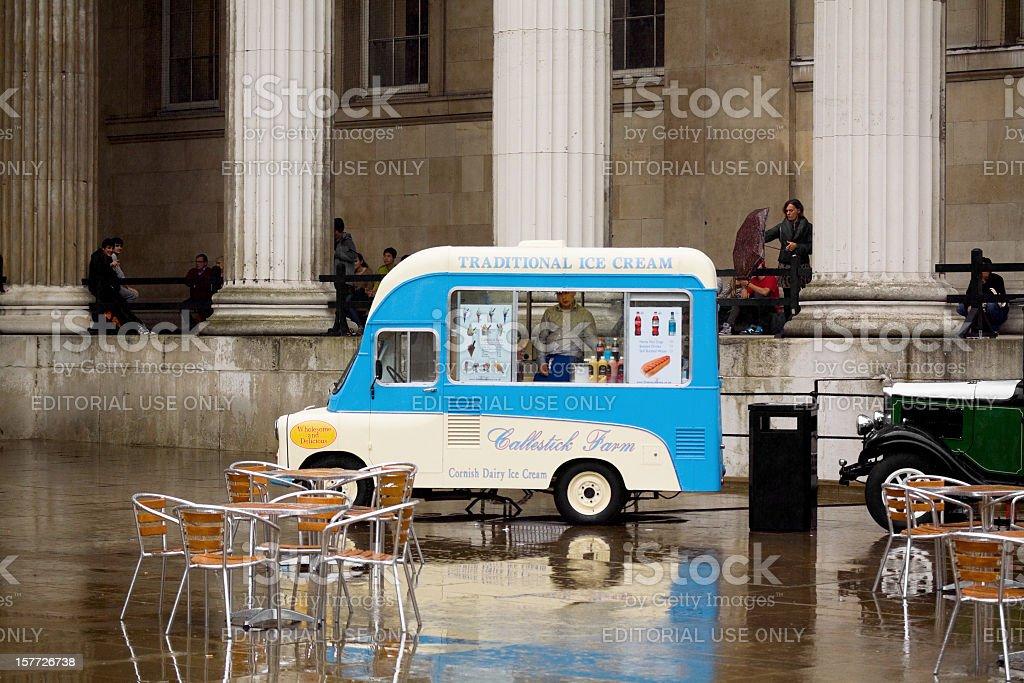 Perfect weather for ice-cream stock photo