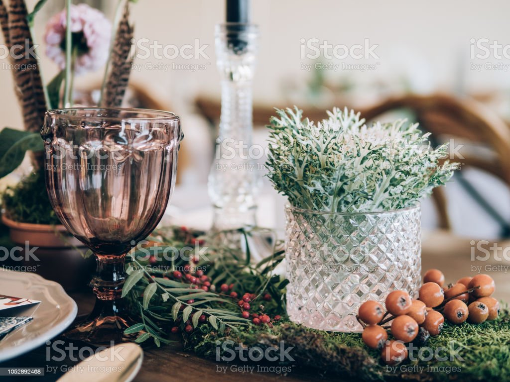 Perfect wedding decoration. stock photo