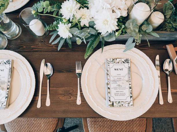 完璧な結婚式の装飾。 - 結婚式 ストックフォトと画像