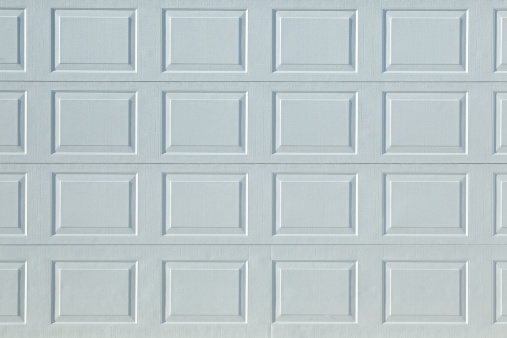 Perfect White Aluminum Garage Door Textured Stock Surface