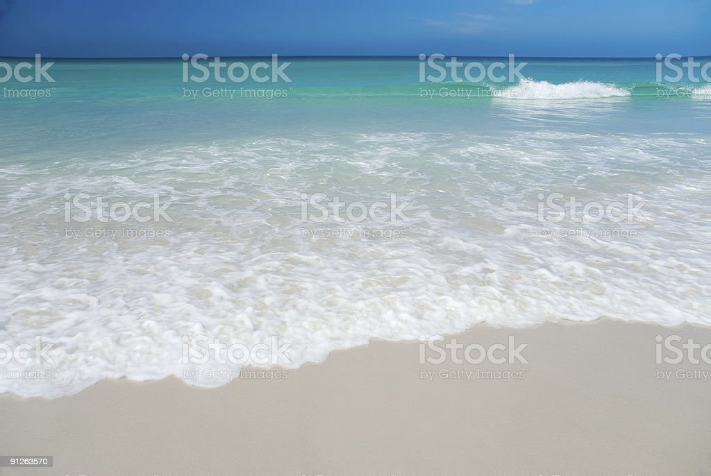 Perfect White Beach stock photo