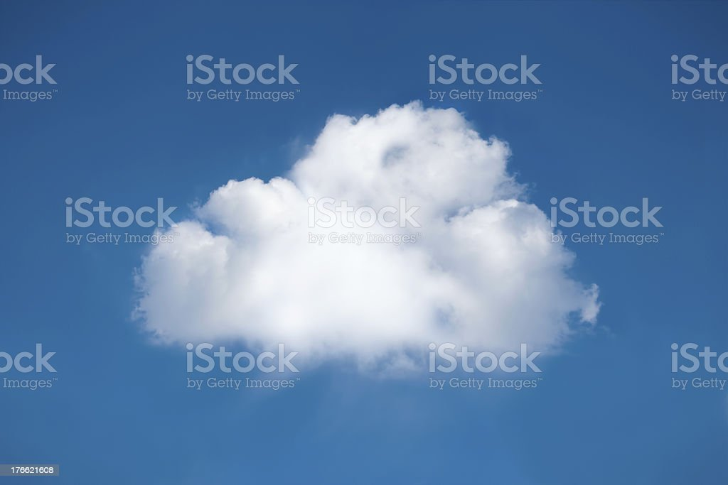Perfect white cloud royalty-free stock photo