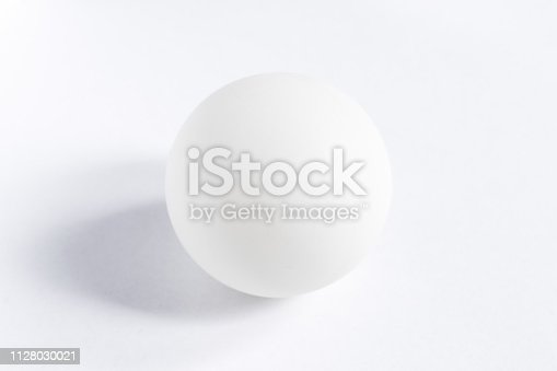 A perfect white sphere in the center of a white background
