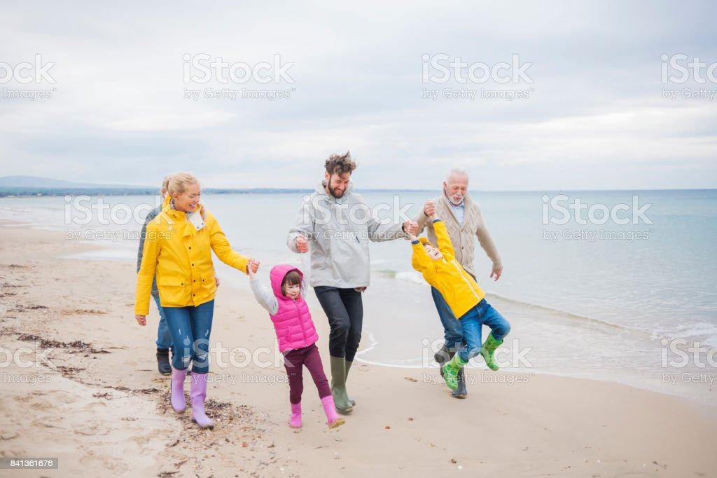 Perfect winter vacation stock photo