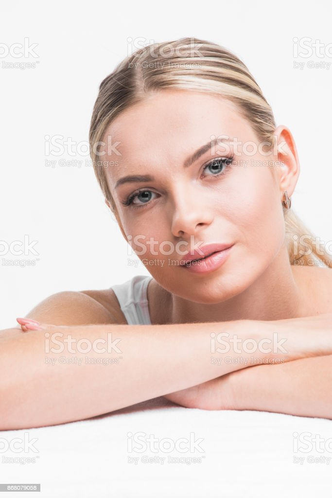 Perfect woman portrait stock photo