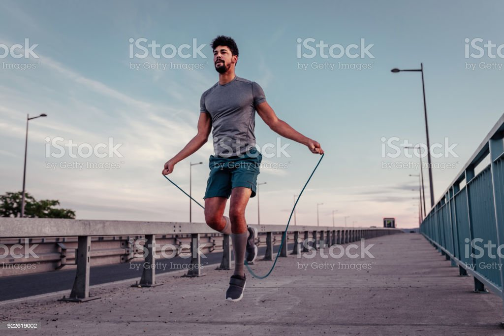 Perfecting his form stock photo