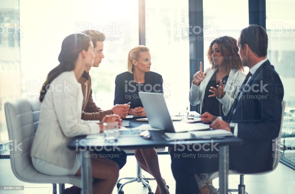 Perfecting the plans stock photo