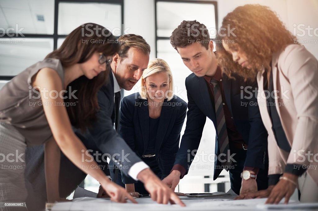 Perfecting their plans to ensure another success stock photo
