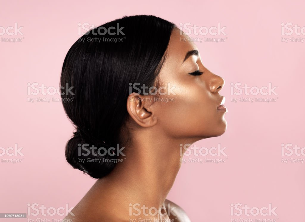 Perfection in profile stock photo