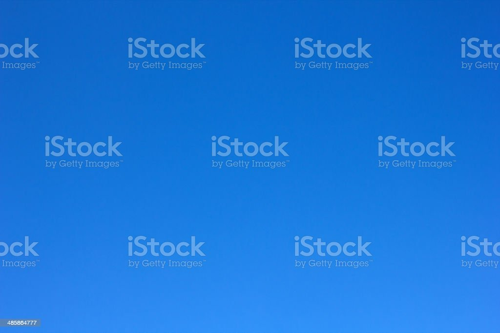 Perfectly Clear Blue Sky stock photo