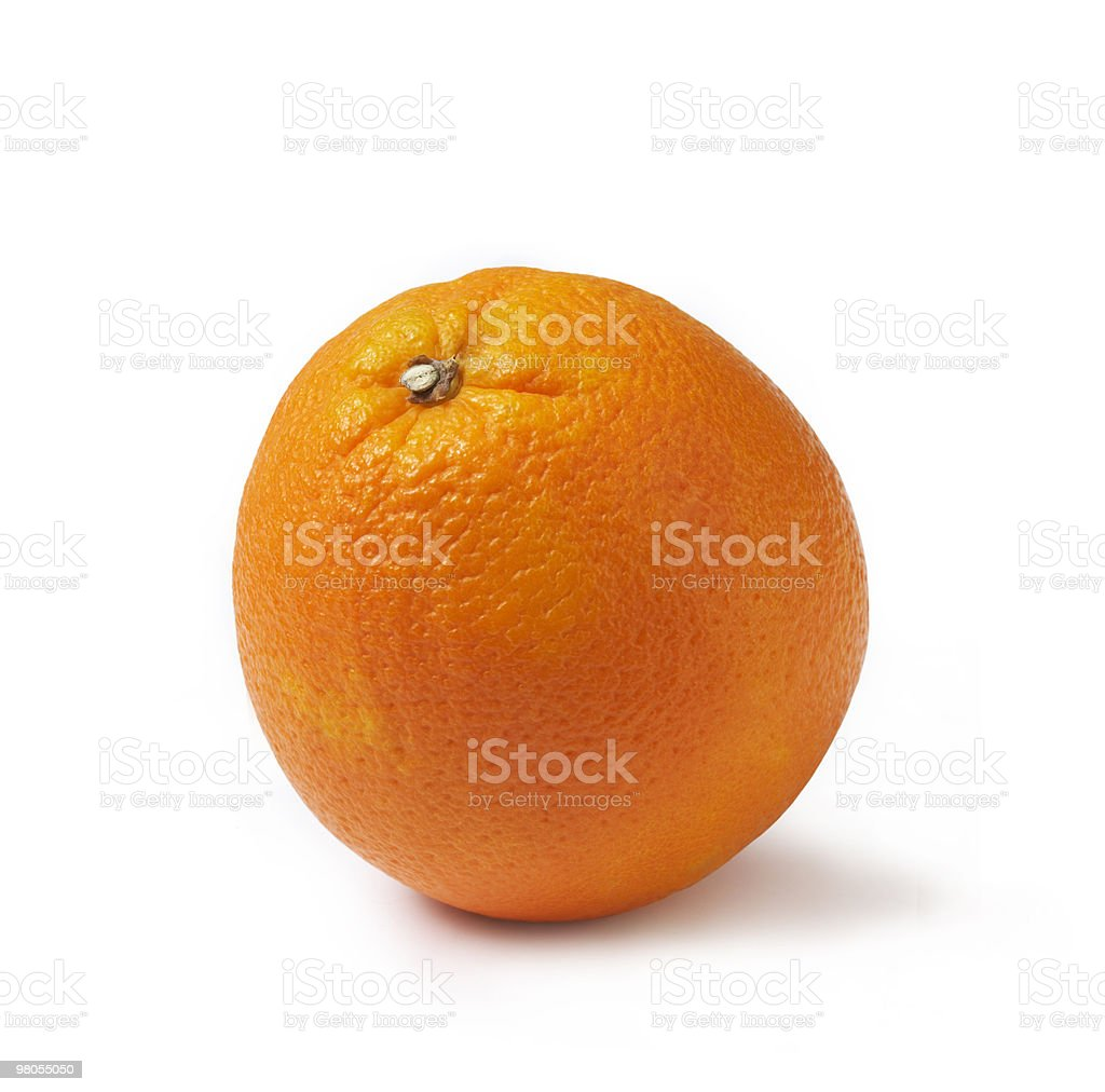 Perfectly fresh orange royalty-free stock photo
