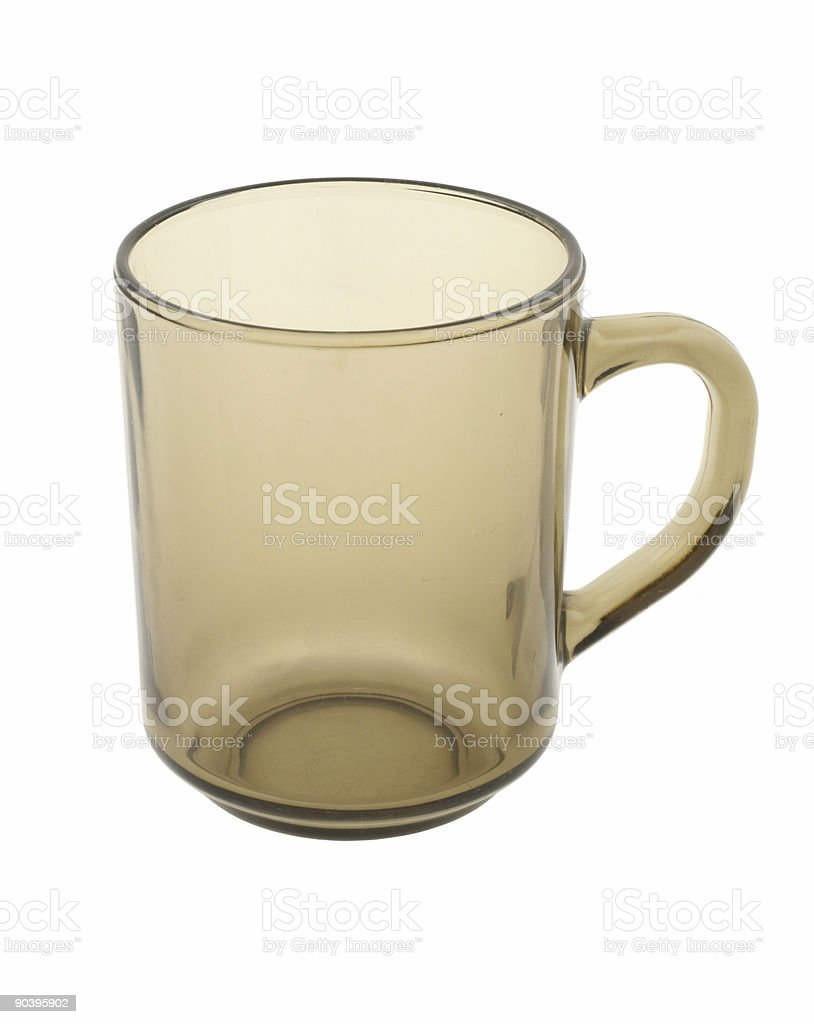 perfectly isolated glass royalty-free stock photo