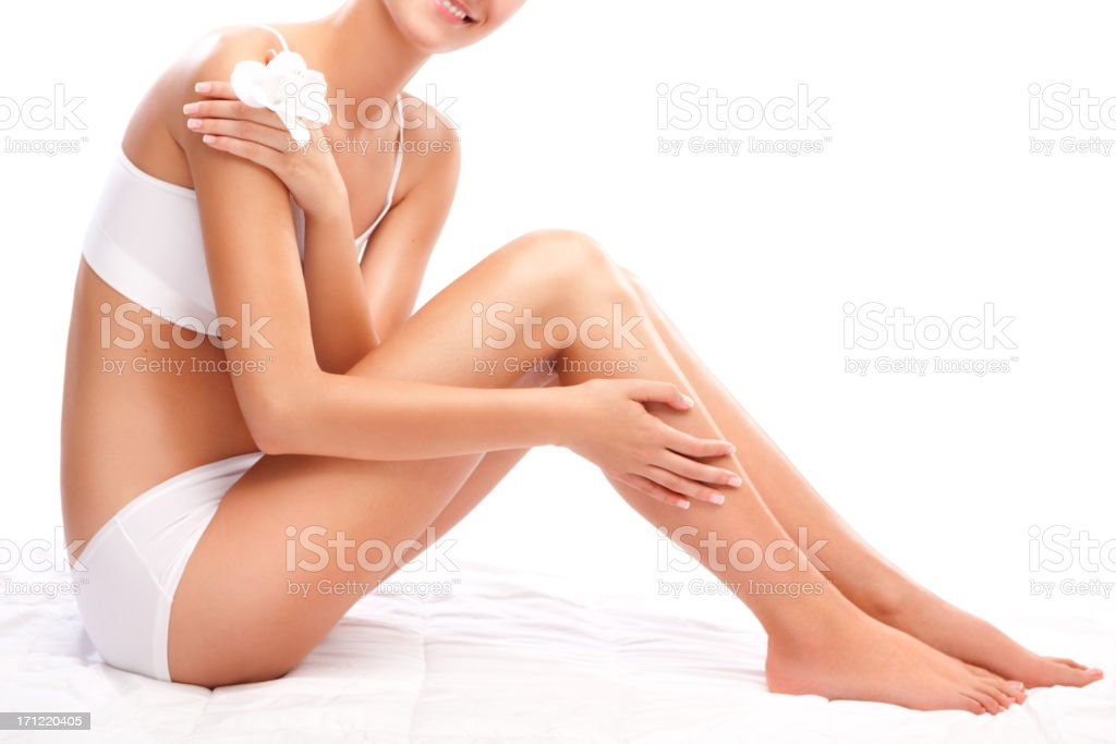 Perfectly shaped female body stock photo