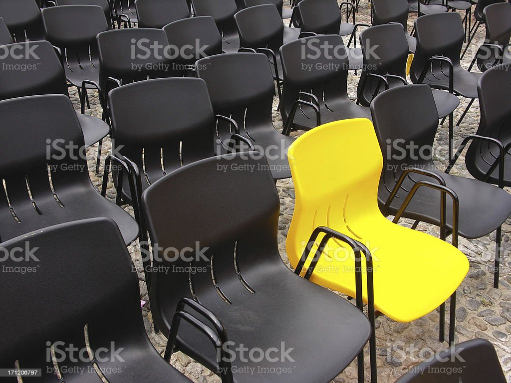 Perfectly yellow stock photo