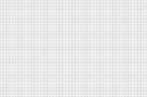 Perforated holes. Seamless metal grille. Wire fence isolated on white background. Circle pattern. illustration